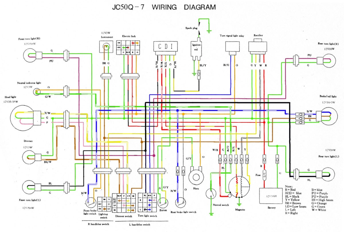 jincheng 49cc wiring diagrams 49cc scooter cdi wiring diagrams